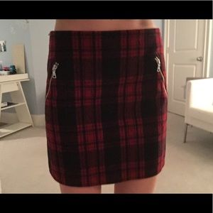 PLAID SKIRT WITH Zippers !!!!